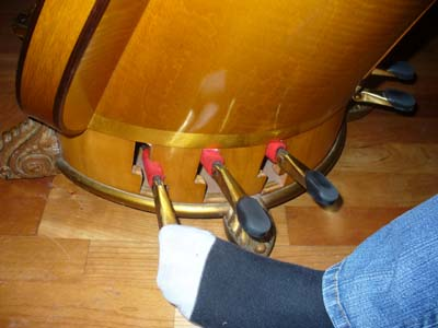 pedals of the harp