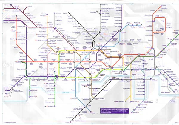London Underground (the tube) Map