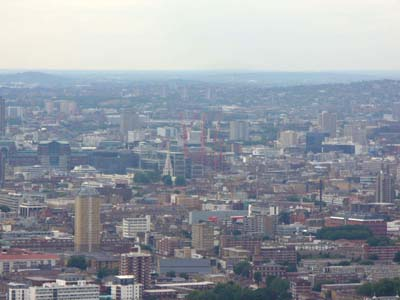 View from the top of Canary Wharf Tower